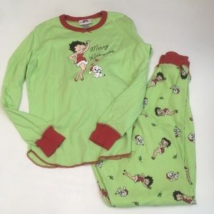 Other - Betty boop Christmas pajama set women's small